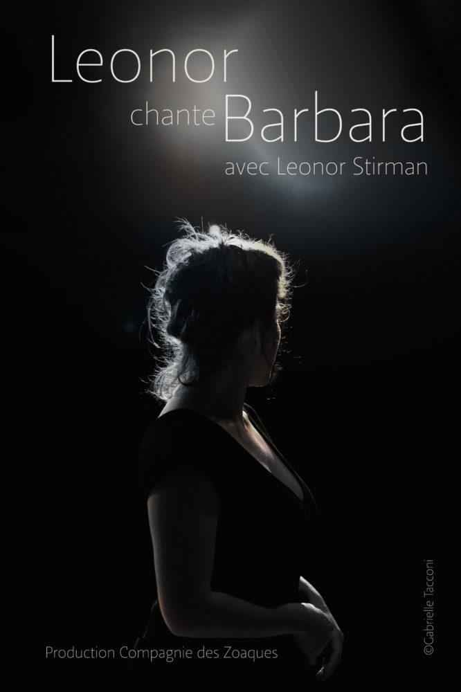 affiche du spectacle Leonor chante barbara