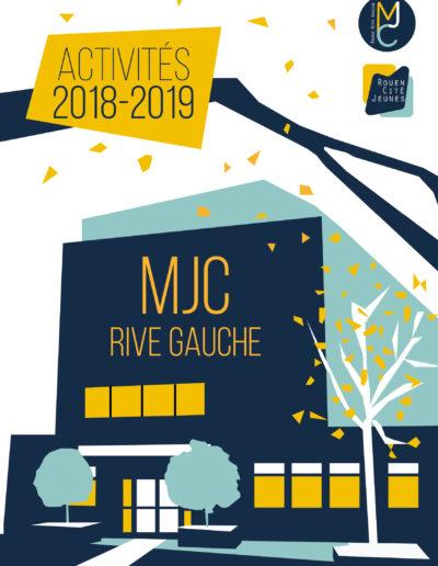 programme mjc rouen rive gauche charte graphique bleu jaune illustration design graphisme tapa idée communication