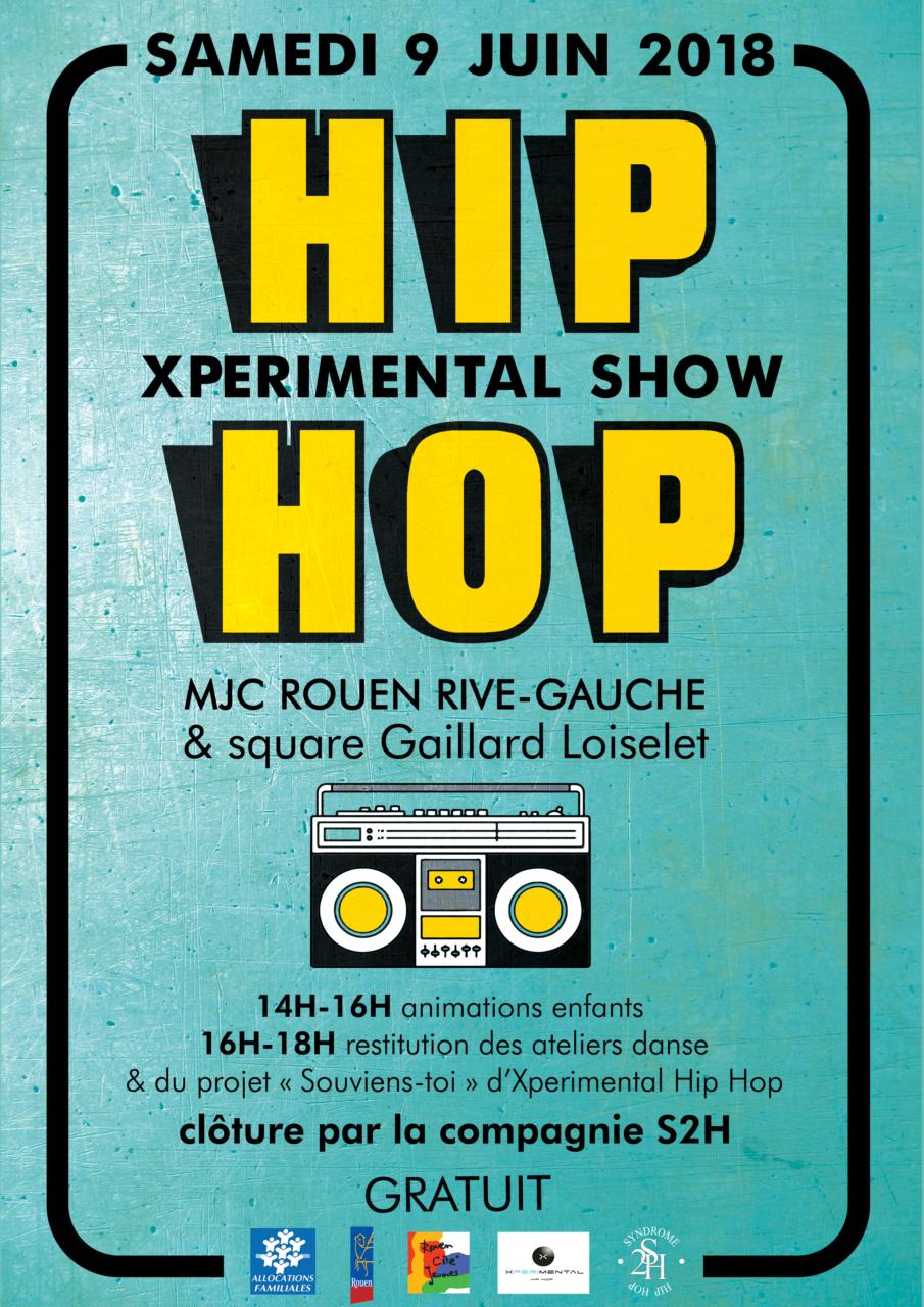 affiche xperimental hip hop show mjc rouen danse