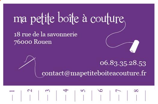violet ruban Ma petite boite à couture carte de visite design illustration graphise tapa idée communication création